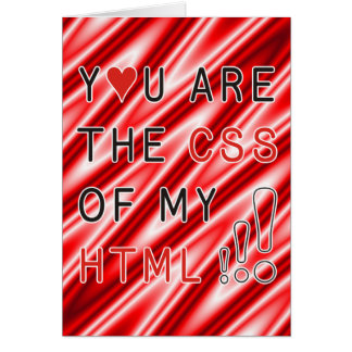 Usted es mi CSS - ondas blancas rojas Tarjeta De Felicitación