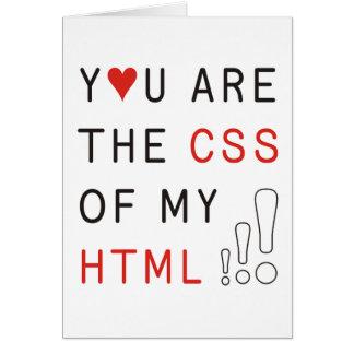 Usted es mi CSS Tarjeta De Felicitación