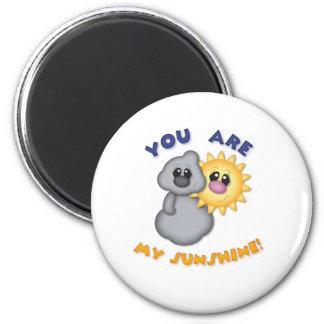 Usted es mi diseño de la sol imán redondo 5 cm