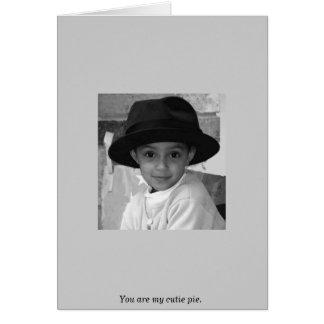 Usted es mi empanada del cutie tarjeta de felicitación