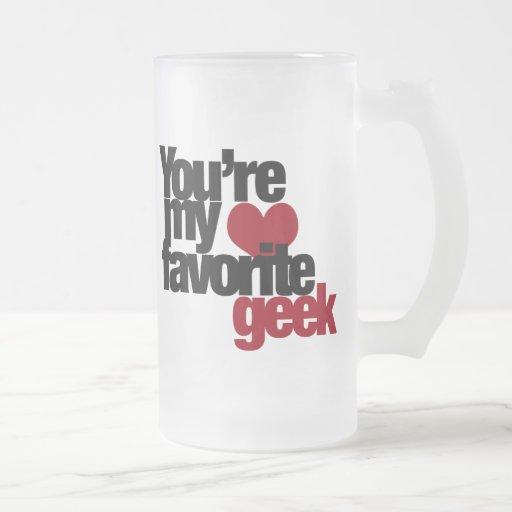 Usted es mi empollón preferido taza cristal mate