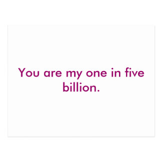 Usted es mi en cinco mil millones postal
