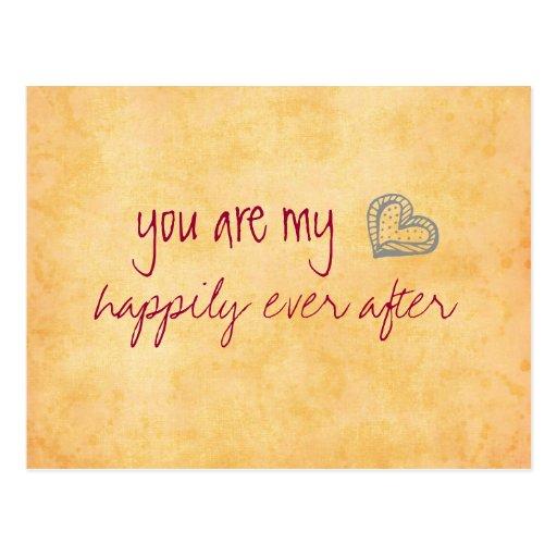 Usted es mi feliz siempre después postales