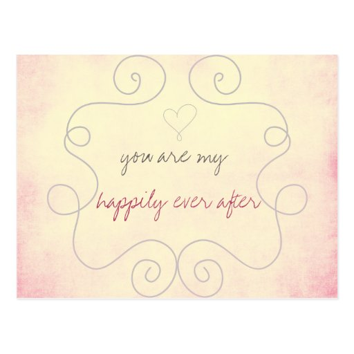 Usted es mi feliz siempre después tarjetas postales