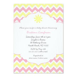 Usted es mi fiesta de bienvenida al bebé de la sol invitación 12,7 x 17,8 cm