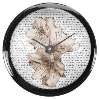 Usted es mi flor de Brown del café de la Relojes Acuario