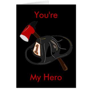Usted es mi héroe tarjeta de felicitación