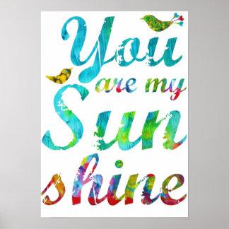Usted es mi impresión de la sol impresiones
