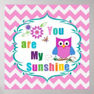 Usted es mi impresión del poster de la sol