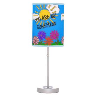 Usted es mi lámpara de mesa de la sol
