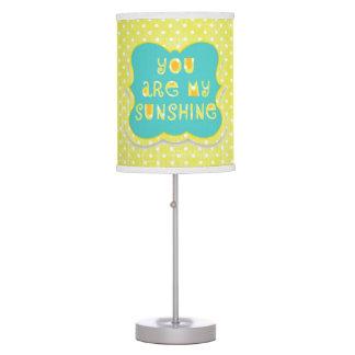 Usted es mi lámpara de Polkadots del amarillo de l