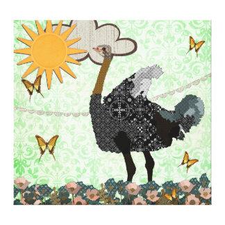 Usted es mi lona de arte de la avestruz de la sol impresión en lienzo estirada