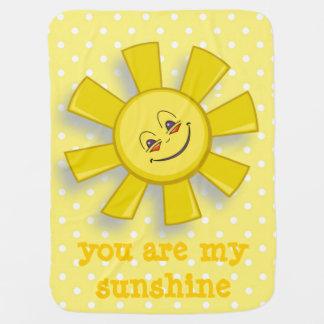 Usted es mi manta del bebé de la sol mantita para bebé
