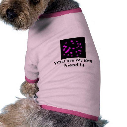 ¡USTED es mi mejor amigo!!!! Camiseta Con Mangas Para Perro