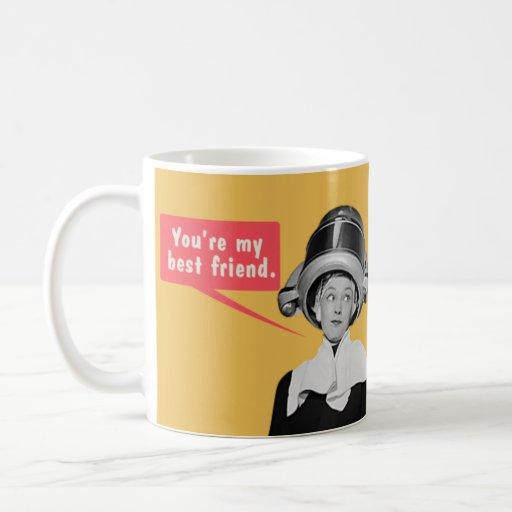 Usted es mi mejor amigo. /Soy su solamente amigo Tazas De Café