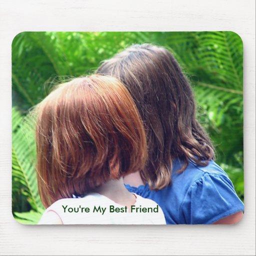 Usted es mi mejor amigo tapetes de raton
