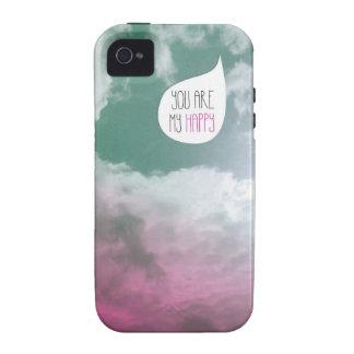 Usted es mi mindfulness feliz del regalo de la tar iPhone 4/4S funda