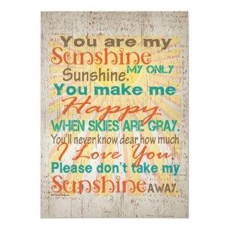 Usted es mi naranja/trullo/crema de la sol invitación
