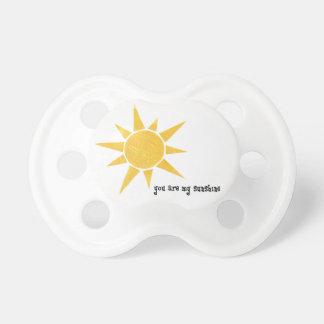 Usted es mi pacificador del bebé de la sol chupetes de bebe