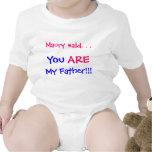 Usted es mi padre camiseta