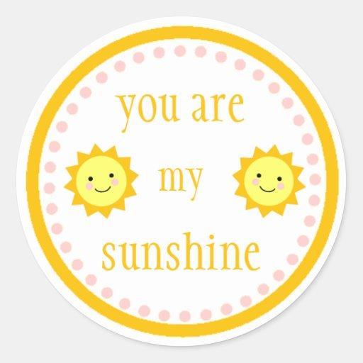 Usted es mi pegatina de la sol
