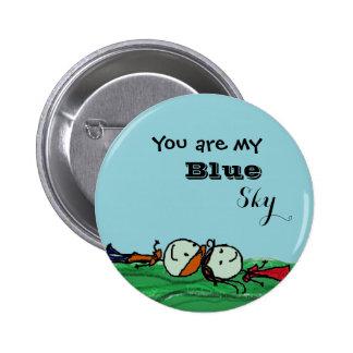 Usted es mi Pin del cielo azul