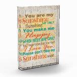 Usted es mi placa del escritorio de la sol