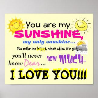 Usted es mi poster de la sol