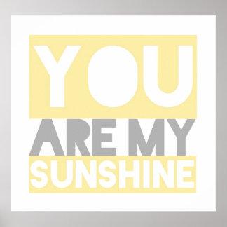 Usted es mi poster de las letras de la sol