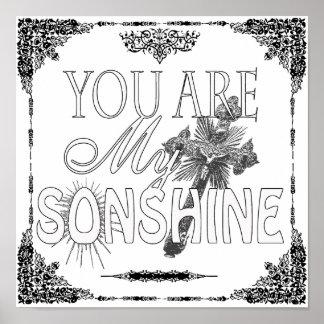 Usted es mi poster del personalizado de Sonshine
