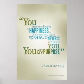 Usted es mi propósito póster