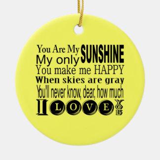 Usted es mi ropa y regalos de la sol ornato