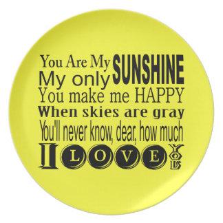Usted es mi ropa y regalos de la sol plato