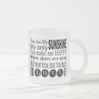 Usted es mi ropa y regalos de la sol taza