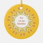 """¡""""Usted es mi sol! """"Acuarela de la cita del amor Ornamento Para Arbol De Navidad"""