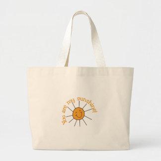 Usted es mi sol bolsa tela grande