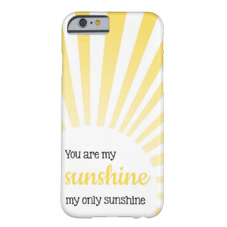 Usted es mi sol - caso del iPhone 6 Funda Barely There iPhone 6