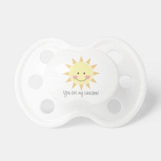 ¡Usted es mi sol! Chupete De Bebe
