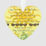 Usted es mi sol con las flores en amarillo