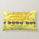 Usted es mi sol con las flores en amarillo almohadas