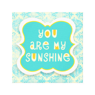 Usted es mi sol --Diseño apenado Lona Estirada Galerías