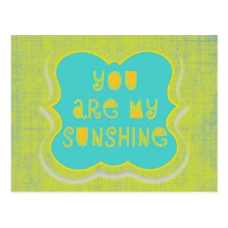 Usted es mi sol--diseño apenado postales