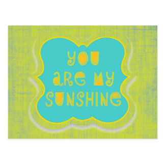 Usted es mi sol--diseño apenado tarjeta postal
