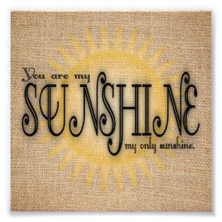 Usted es mi sol en la arpillera fotografía