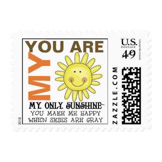 Usted es mi sol estampilla