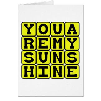 Usted es mi sol, estándar romántico tarjeton