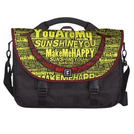 Usted es mi sol feliz bolsas de portatil