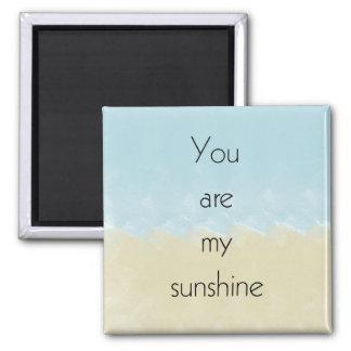 Usted es mi sol imán cuadrado