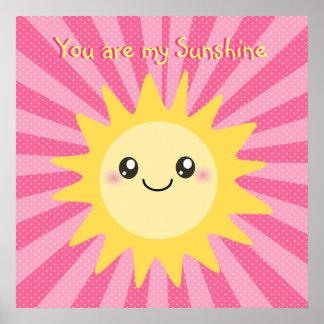 Usted es mi sol lindo de la sol póster