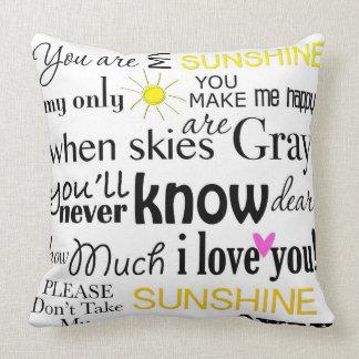 Usted es mi sol mi solamente sol almohadas